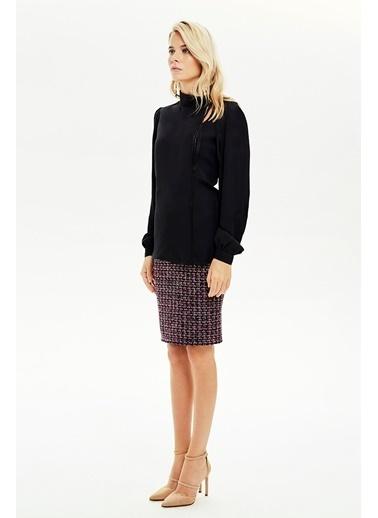 NaraMaxx Simli Biye Detaylı Bluz Renksiz